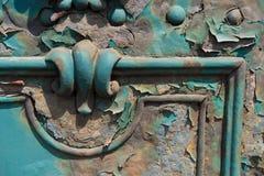 Παλαιά σκουριά πορτών metall στις οδούς της Βουδαπέστης Ουγγαρία Στοκ Φωτογραφίες
