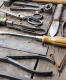 παλαιά σκουριασμένα εργ& Στοκ Φωτογραφίες