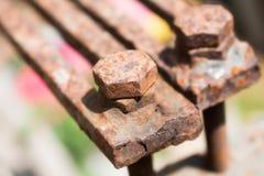 Παλαιά σκουριασμένα μπουλόνια βιδών, Στοκ Εικόνα