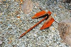 Παλαιά σκουριασμένη αγκύλη Στοκ εικόνα με δικαίωμα ελεύθερης χρήσης
