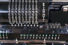 Παλαιά σκουριασμένη αναδρομική μαύρη στάση υπολογιστών σε έναν ξύλινο πίνακα Στοκ φωτογραφία με δικαίωμα ελεύθερης χρήσης