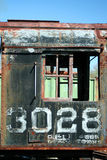 Παλαιά σκουριασμένη ατμομηχανή τραίνων στοκ εικόνες