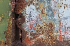 Παλαιά σκουριασμένη επιφάνεια μετάλλων Στοκ Εικόνα