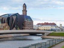 παλαιά Σουηδία σουηδική πόλη του βασικού Μάλμοε παραδοσιακή Στοκ φωτογραφία με δικαίωμα ελεύθερης χρήσης