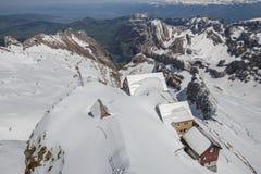 παλαιά σπίτια βουνών saentis στην Ελβετία Στοκ εικόνα με δικαίωμα ελεύθερης χρήσης