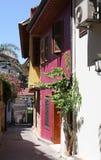 Παλαιά σπίτια σε Antalya, Τουρκία Στοκ Εικόνα
