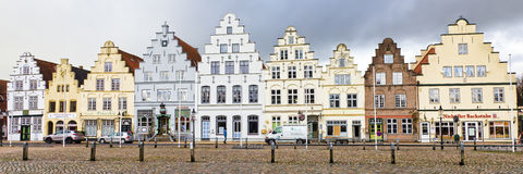 Παλαιά σπίτια σε Friedrichstadt, Γερμανία στοκ εικόνες με δικαίωμα ελεύθερης χρήσης