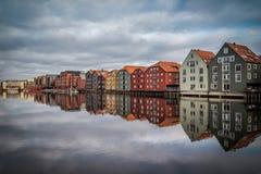 Παλαιά σπίτια στους στυλοβάτες Στοκ Εικόνες