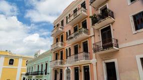 Παλαιά σπίτια του San Juan Στοκ Φωτογραφία