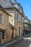 Παλαιά σπίτια, Nespouls, Correze, Λιμουζέν, Γαλλία Στοκ Εικόνες