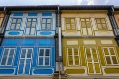 Παλαιά σπίτια Singapur Στοκ Φωτογραφίες