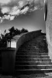 παλαιά σπειροειδής σκάλ& Στοκ εικόνες με δικαίωμα ελεύθερης χρήσης