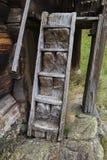 Παλαιά σπιτικά σκαλοπάτια από το 16ο αιώνα σε Rygnestadtunet Στοκ Εικόνες