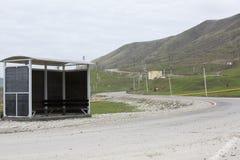 Παλαιά στάση λεωφορείου στα βουνά Στοκ εικόνες με δικαίωμα ελεύθερης χρήσης