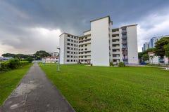 Παλαιά στέγαση κοινής ωφελείας στη Σιγκαπούρη πριν από το γκρέμισμα Στοκ Εικόνες