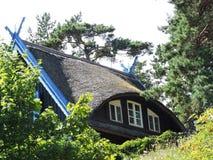 Παλαιά στέγη σπιτιών, Λιθουανία Στοκ Φωτογραφίες