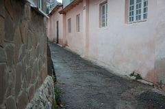 Παλαιά στενή οδός στην Κριμαία Στοκ Φωτογραφίες