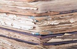 παλαιά στοίβα βιβλίων Υπόβαθρο Στοκ Εικόνες