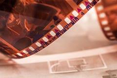 Παλαιά 35 στριμμένη χιλ. ταινία Στοκ Εικόνες