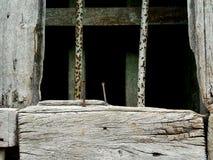 Παλαιά σύσταση ξύλου και χάλυβα Στοκ εικόνα με δικαίωμα ελεύθερης χρήσης