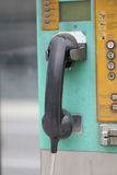 Παλαιά τηλεφωνική κάσκα Στοκ Εικόνα