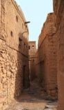 Παλαιά του χωριού Al-Hamra στενωπός, Ομάν στοκ εικόνα με δικαίωμα ελεύθερης χρήσης