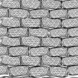 Παλαιά τούβλα. Άνευ ραφής. Ύφος Doodle Στοκ Εικόνα