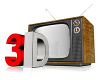 Παλαιά τρισδιάστατη τηλεόραση Στοκ φωτογραφία με δικαίωμα ελεύθερης χρήσης