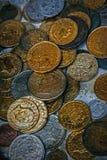 Παλαιά φωτογραφία με τα παλαιά νομίσματα 2 Στοκ Εικόνες