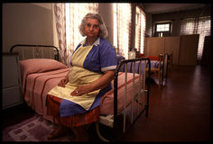 1992 παλαιά φωτογραφία στο νοσοκομείο Psychiatic Στοκ φωτογραφίες με δικαίωμα ελεύθερης χρήσης