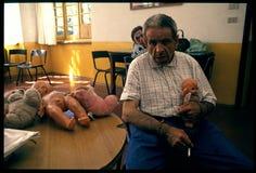 1992 παλαιά φωτογραφία στο νοσοκομείο Psychiatic Στοκ Εικόνες