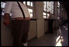 1992 παλαιά φωτογραφία στο νοσοκομείο Psychiatic Στοκ Εικόνα