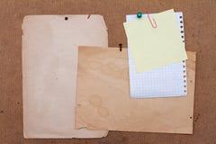 παλαιά φύλλα εγγράφου στοκ εικόνες με δικαίωμα ελεύθερης χρήσης
