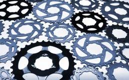 Παλαιά χρησιμοποιημένα εργαλείο cogwheels ποδηλάτων Στοκ Εικόνες
