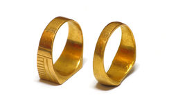 Παλαιά χρυσά γαμήλια δαχτυλίδια στοκ φωτογραφία