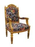 Παλαιά χρυσή γαλλική πολυθρόνα του Louis ύφους Στοκ φωτογραφία με δικαίωμα ελεύθερης χρήσης