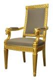 Παλαιά χρυσή γαλλική πολυθρόνα του Louis ύφους Στοκ Εικόνα
