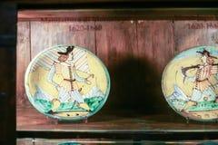 Παλαιά χρωματισμένα πιάτα σε Palazzo Davanzati Στοκ φωτογραφία με δικαίωμα ελεύθερης χρήσης
