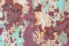 παλαιά χρωματισμένη επιφάνεια Στοκ Φωτογραφίες