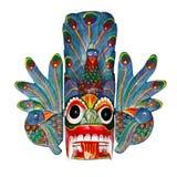 Παλαιά χρωματισμένη ξύλινη μάσκα Sri Lankan στοκ φωτογραφία με δικαίωμα ελεύθερης χρήσης
