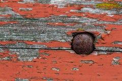 Παλαιά χρωματισμένη ξύλινη σανίδα Στοκ Φωτογραφίες