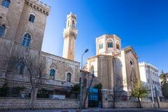 παλαιά όψη μουσουλμανικών τεμενών της Ιερουσαλήμ πόλεων aqsa Al Ήρεμη ηλιόλουστη ημέρα την άνοιξη Στοκ φωτογραφία με δικαίωμα ελεύθερης χρήσης