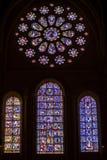 Παλαιά stained-glass ομορφιάς παράθυρα στον καθεδρικό ναό της κυρίας Cha μας Στοκ Φωτογραφίες