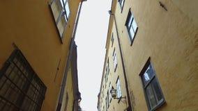 παλαιά stan πόλη της Στοκχόλμης gamla απόθεμα βίντεο
