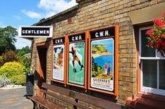 Παλαιές αναφορές στον τοίχο σιδηροδρομικών σταθμών, Arley Στοκ φωτογραφία με δικαίωμα ελεύθερης χρήσης