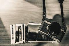 Παλαιές αναδρομικές εικόνες και μνήμες ταινιών καμερών Στοκ Εικόνα