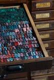 Παλαιές εκλεκτής ποιότητας επιστολές Τύπου εκτύπωσης Στοκ φωτογραφία με δικαίωμα ελεύθερης χρήσης