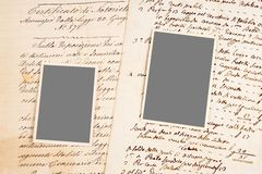 Παλαιές επιστολές και φωτογραφίες Στοκ Εικόνα