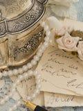 Παλαιές επιστολές με τη μάνδρα Στοκ φωτογραφία με δικαίωμα ελεύθερης χρήσης
