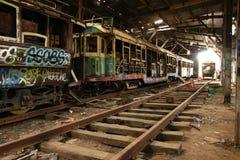 Παλαιές διαδρομές τραμ Στοκ εικόνες με δικαίωμα ελεύθερης χρήσης